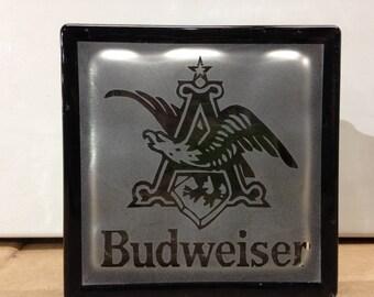 budweiser logo glass block
