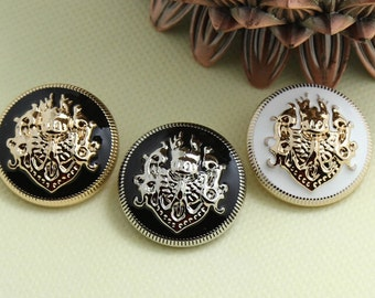 4 pcs Metal Buttons Silver Buttons 20x20mm(46-1)