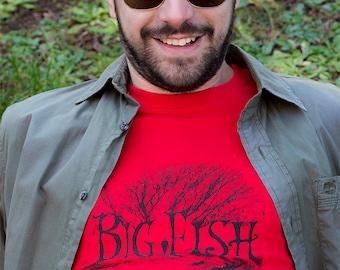Tim burton shirt etsy for Big fish screen printing