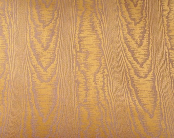 Gold lilac moire jacquard fabric by the metre home decor