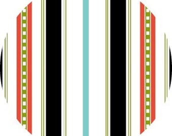 SALE Summertime, Henry Glass - Stripes in Black  - 1 yard