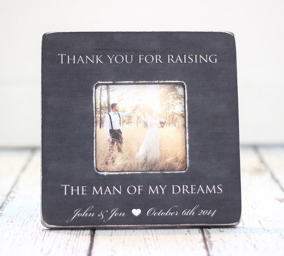Wedding Gifts For Parents Of The Couple : Parents Thank You Wedding Gift Grooms Parents Picture Frame Thank You ...