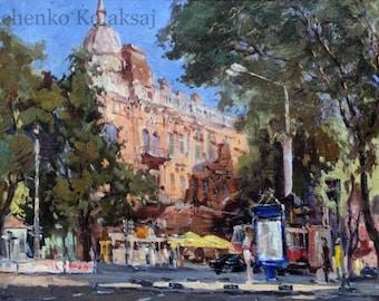 Cityscape of old Odessa, Crossroads.