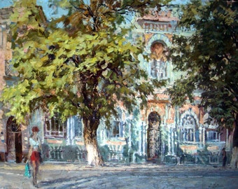 Cityscape. Odessa. oil