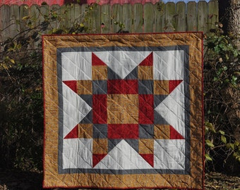 Midwest Star barn block quilt