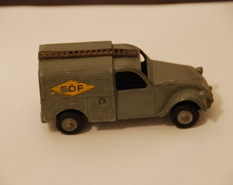 Rare French JRD citroën 2cv EDF van circa 1955 with its ladder and 4 tyres, no box