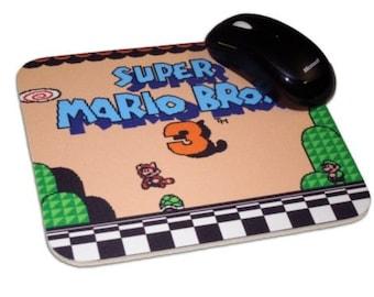 Super Mario Bros 3 Mouse Pad, 8 Bit, NES, Nintendo