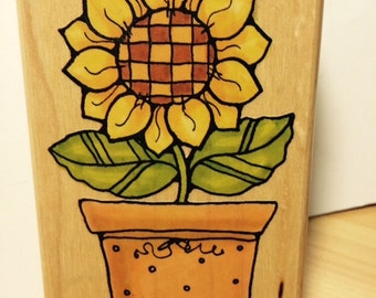 Sunny Flower (522J) Rubber Stamp by Penny Black