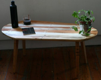 R3 table low vintage P-64, manufactured with recycled pallets