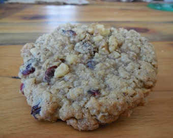 Big Chewy Oatmeal Cookies with craisins and walnuts-Homemade