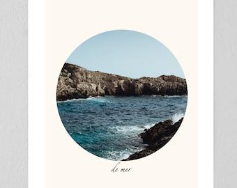 "Ocean ""De Mer"" Nature Photography Print"