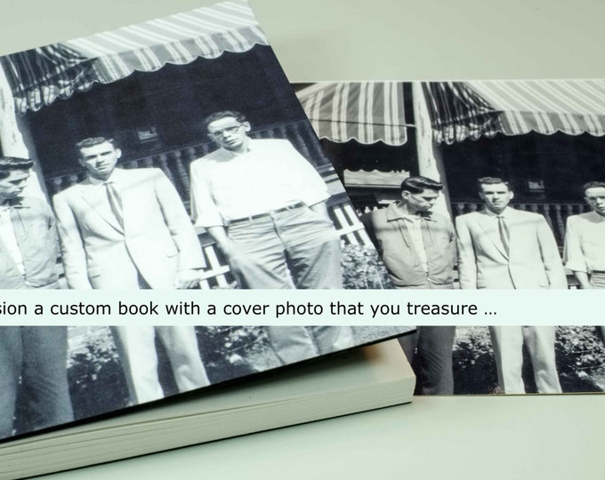 YOUR CUSTOM COVER handmade coptic bound blank book diary journal keepsake notebook with your personal artwork image photo | aBoBoBook 1697