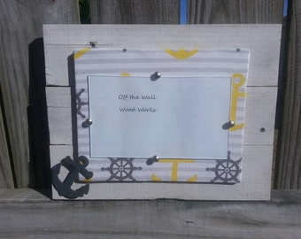 Anchors Away picture frame