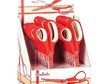 Red  polka dot scissors