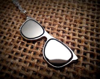 Tiny Sunglasses Necklace - Sunglasses Charm - Sunglasses Pendant