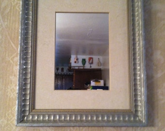 Silver Painted, Wood Framed, Wall Mirror