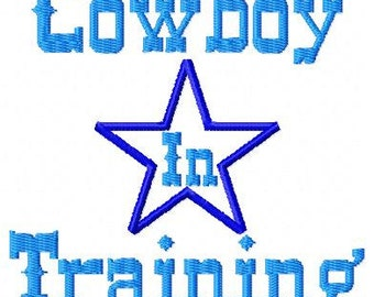 Cowboy In Training Star Machine Embroidery Single Design INSTANT DOWNLOAD