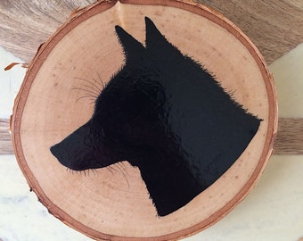 Hand-painted fox silhouette