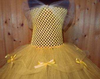 Belle Tutu Dress Beauty and The Beast Disney Tutus Belle Costume Belle Dress Toddler Kids Baby
