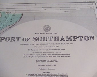 England - South Coast - Port of Southampton - Nautical Chart, 4527