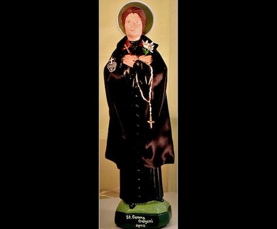 "St. Gemma Galgani 18"" Catholic Christian Saints Plaster Religious Statue"