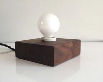 Walnut Table Light