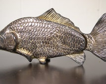 Vintage Modello Depositato Silver Carp Fish From Italy