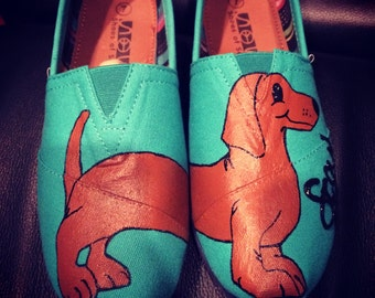 Painted Dachshund Shoes