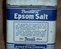 Popular items for laxative on etsy for Epsom salt in french