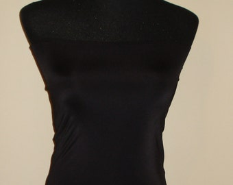 Black bandeau top tube crop top for infinity convertible wrap dress