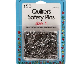 150 Quilter's Safety Pins by Collins (Size 1) W-131