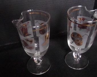Vintage Martini Glass Pitcher