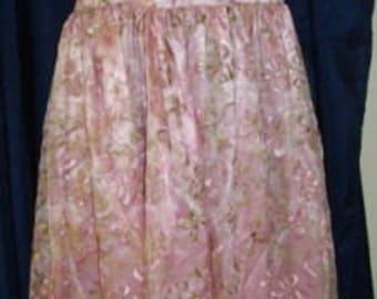 Vintage 1980s Pink Organza Overlay Halter Flared Hem Prom Spaghetti Strap Dress