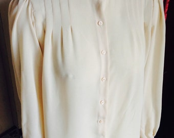 1980s beige blouse