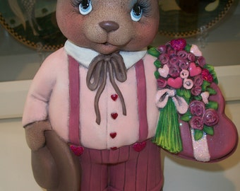 Ceramic Valentine Boy Bear