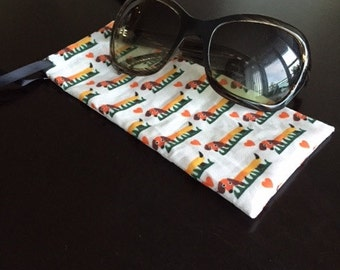 Dachshund Patterned Sunglass Pouch