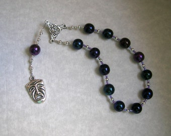 Melpomene Pocket Prayer Beads: Greek Muse of Tragedy