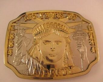 100th Anniversary Statue of Liberty Commemorative Belt Buckle. Item:MSC818389