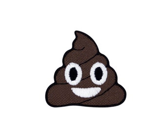 Pile of Poo Poop Emoji Embroidered Iron On Patch - FREE SHIPPING