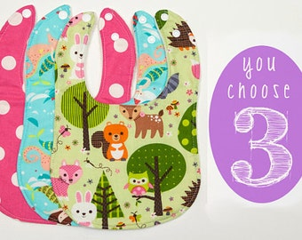Baby Bibs - Set of 3 Custom Drooler bibs