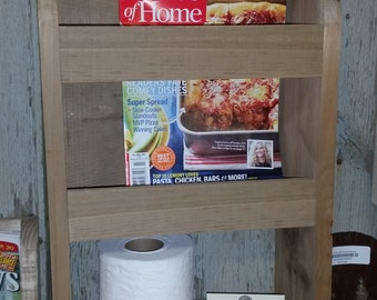 magazine rack with shelf bathroom toilet paper storage
