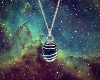 Genuine Stone Meteorite Pendant - Sterling Silver