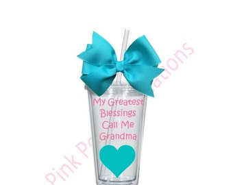 Grandma Tumbler, Personalized Tumbler, Grandma Gift, Mothers Day Gift