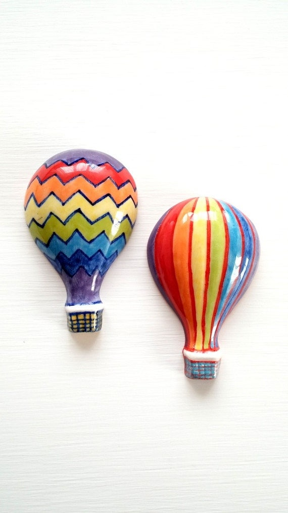 Colorful Balloon Centerpiece : Hot air balloon ceramic tiles colorful by