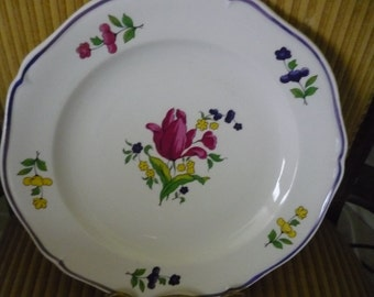 Free shipping French Bon Vivant plate since 1821      Free shipping within USA