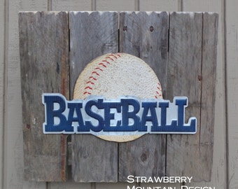 Baseball Wall Pallet Sign