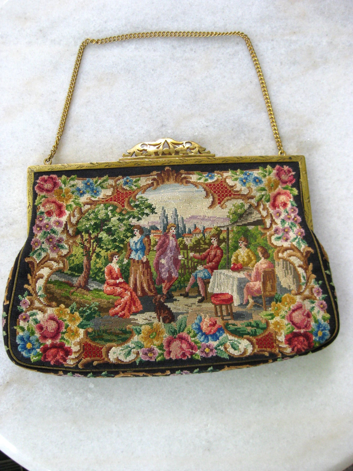 Vintage embroidered clutch purse lovely by forthehipsterinyou