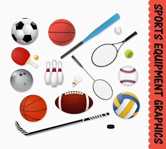 free clipart of sports equipment - photo #19