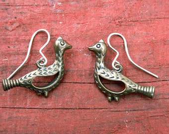 Medieval earrings Viking SCA bronze earrings- Elven earrings- Medieval Viking SCA earrings - Pagan earrings