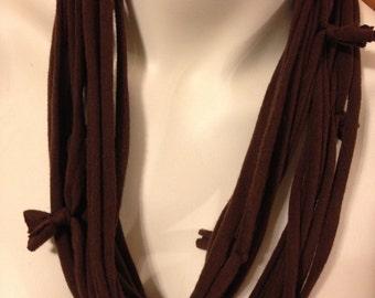 Infinity scarf, repurposed tshirt cowl scarf
